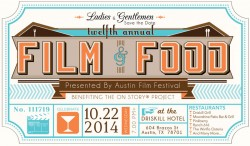 12th Annual Film & Food Fundraising Party - Austin Texas
