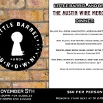 Little Barrel and Brown wine dinner by The Austin Wine Merchant 11/5/14 – Austin Texas