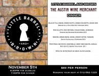 Little Barrel and Brown wine dinner by The Austin Wine Merchant - Austin Texas