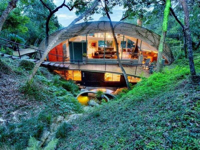Home By Protege Of Frank Lloyd Wright For Sale - Austin Texas